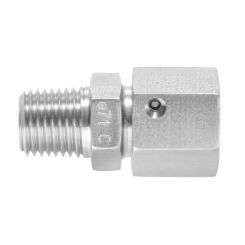 Straight male adaptor unions NPT with taper and O-ring