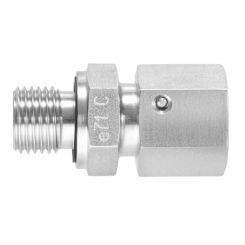 Straight male adaptor unions with taper and O-ring
