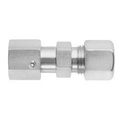 Gerade Verschraubungen mit Dichtkegel und O-Ring