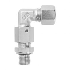 Adjustable male adaptor elbow fittings with taper and O-ring